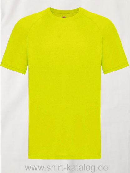 23276-Fruit-Of-The-Loom-Performance-T-Bright-Yellow