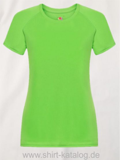 23277-Fruit-Of-The-Loom-Performance-T-Ladies-Lime