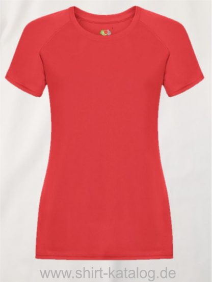 23277-Fruit-Of-The-Loom-Performance-T-Ladies-Red