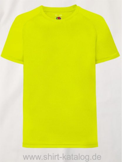 23278-Fruit-Of-The-Loom-Performance-T-Kids-Bright-Yellow