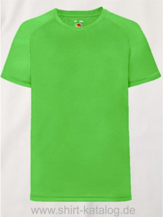 23278-Fruit-Of-The-Loom-Performance-T-Kids-Lime