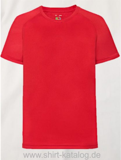 23278-Fruit-Of-The-Loom-Performance-T-Kids-Red