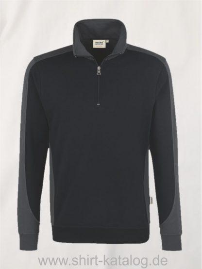 24367-zip-sweatshirt-contrast-mikralinar-476-schwarz-anthrazit