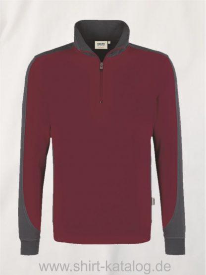 24367-zip-sweatshirt-contrast-mikralinar-476-weinrot-anthrazit