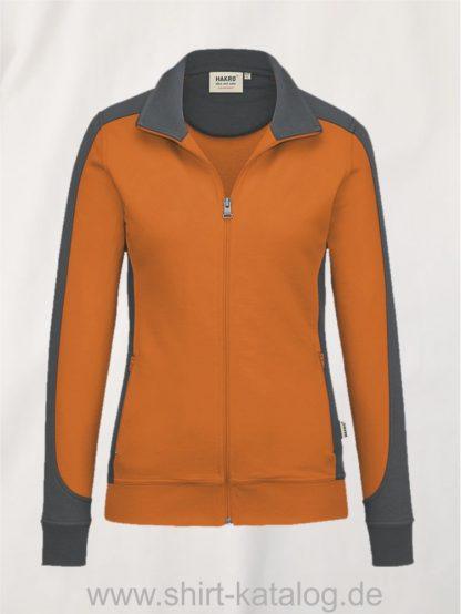 27241-damen-sweatjacke-contrast-mikralinar-277-orange-anthrazit