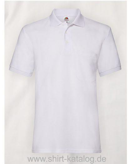 6535-Pocket-Polo-White
