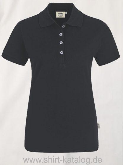 15876-hakro-Women-Poloshirt Stretch-222-schwarz