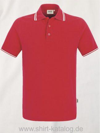 15886-Poloshirt Twin-Stripe-805-rot-weiss