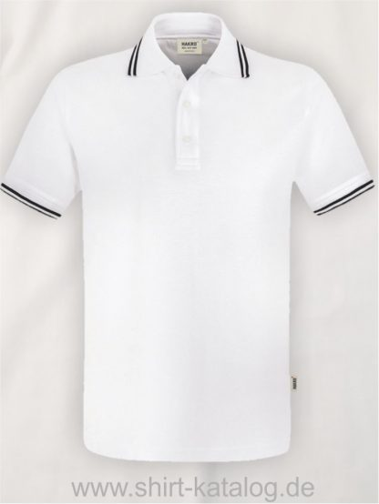 15886-Poloshirt Twin-Stripe-805-weiss-schwarz