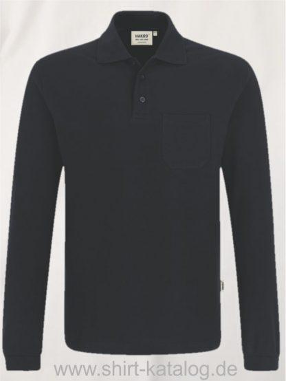 15887-Longsleeve-Pocket-Poloshirt-Top-809-black