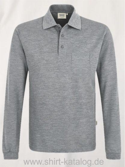 15887-Longsleeve-Pocket-Poloshirt-Top-809-graumeliert