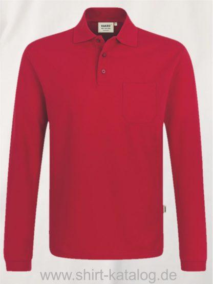 15887-Longsleeve-Pocket-Poloshirt-Top-809-rot