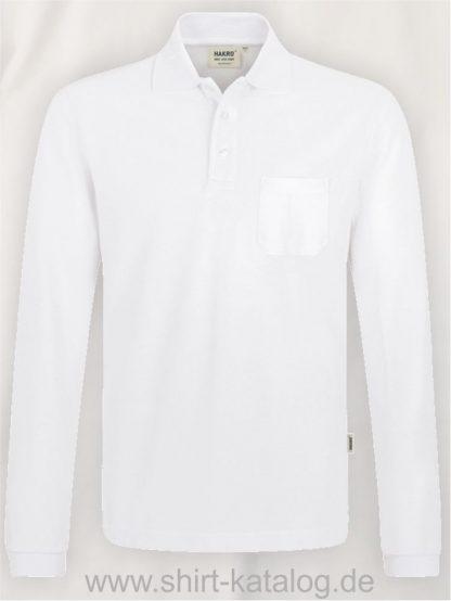 15887-Longsleeve-Pocket-Poloshirt-Top-809-white