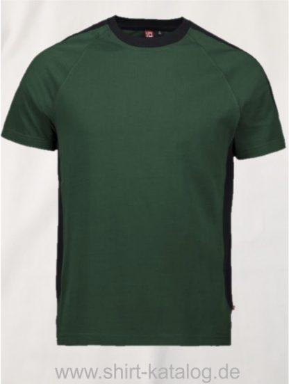12030-ID-Identity-pro-wear-t-shirt-kontrast-0302-bottle-green