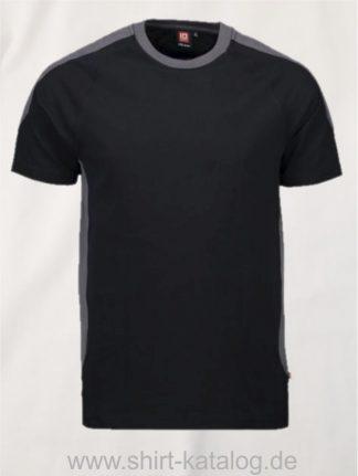 12030-ID-Identity-pro-wear-t-shirt-kontrast-0302-schwarz