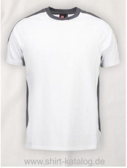 12030-ID-Identity-pro-wear-t-shirt-kontrast-0302-weiß