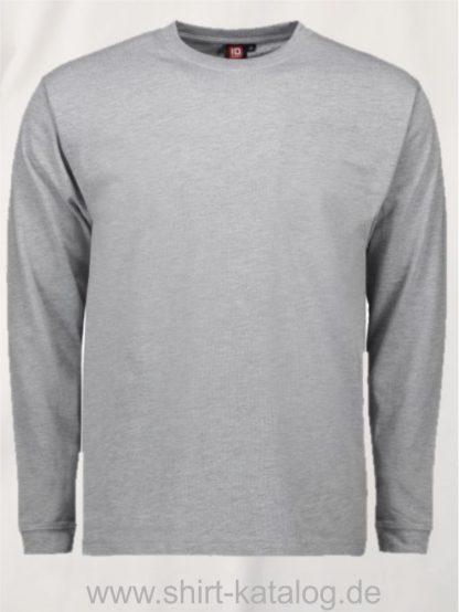 12031-ID-Identity-pro-wear-herren-t-shirt-langarm-0311-graumeliert