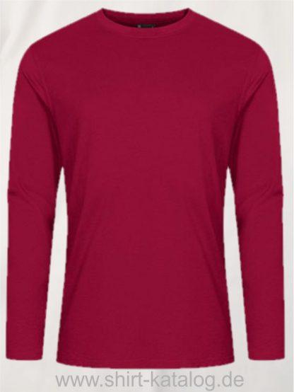 12065-EXCD-Men-T-Shirt-LS-4097-Granat