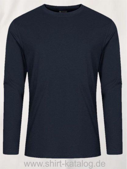 12065-EXCD-Men-T-Shirt-LS-4097-Navy