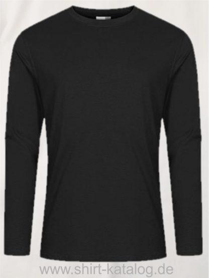 12065-EXCD-Men-T-Shirt-LS-4097-Schwarz