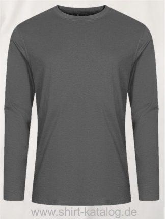 12065-EXCD-Men-T-Shirt-LS-4097-Steel-Grey