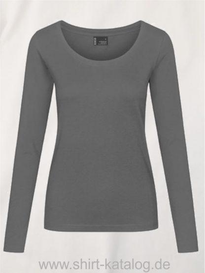 12332-EXCD-Women-T-Shirt LS-4095-Steel-Grey