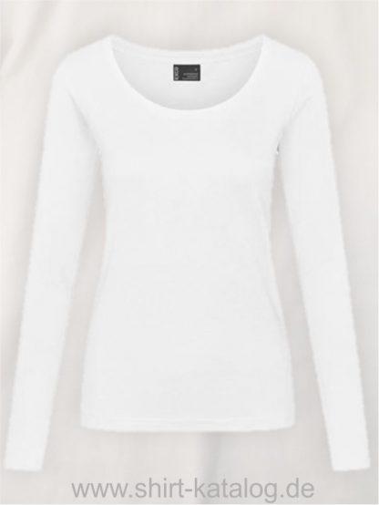 12332-EXCD-Women-T-Shirt LS-4095-White