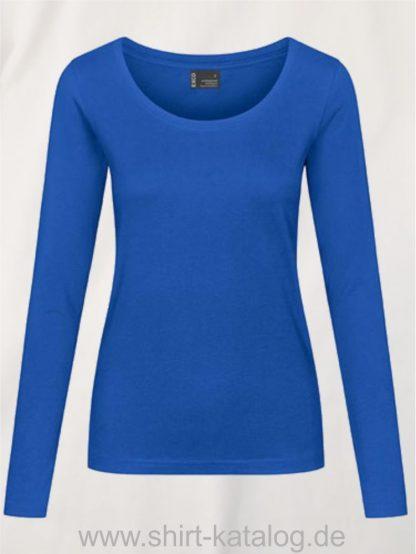 12332-EXCD-Women-T-Shirt LS-4095-cariben-blue