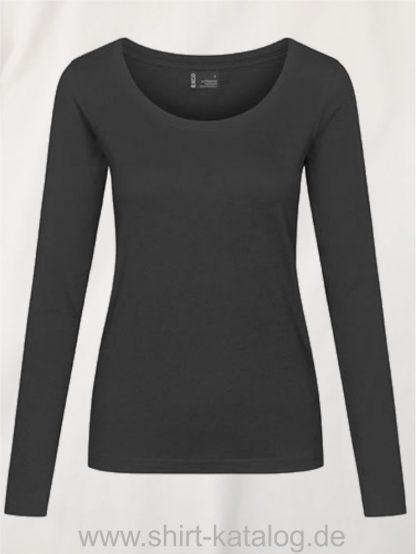 12332-EXCD-Women-T-Shirt LS-4095-charcoal