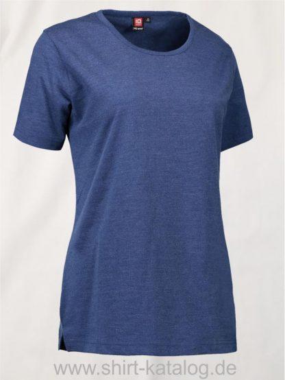 29331-ID-Identity-Pro-Wear-Care-Damen-T-Shirt-0373-Blau-Melange