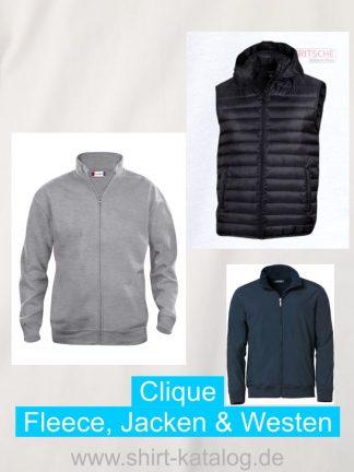 Clique-Fleece, Jacken & Westen