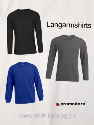 Promodoro-Langarmshirts