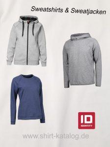 Link zu den Sweatshirts und Sweatjacken von ID Identity