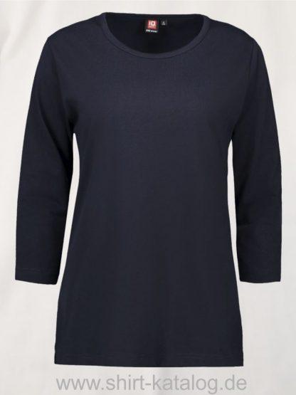 0313-PRO-Wear-Damen-T-Shirt-¾-Ärmel-navy-front