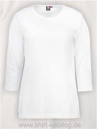 0313-PRO-Wear-Damen-T-Shirt-¾-Ärmel-weiß-front