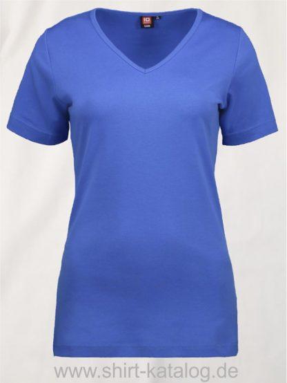 0506-Interlock-Damen-T-Shirt-V-Ausschnitt-azur-front