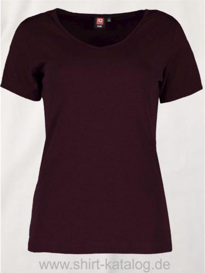 0506-Interlock-Damen-T-Shirt-V-Ausschnitt-bordeaux-front