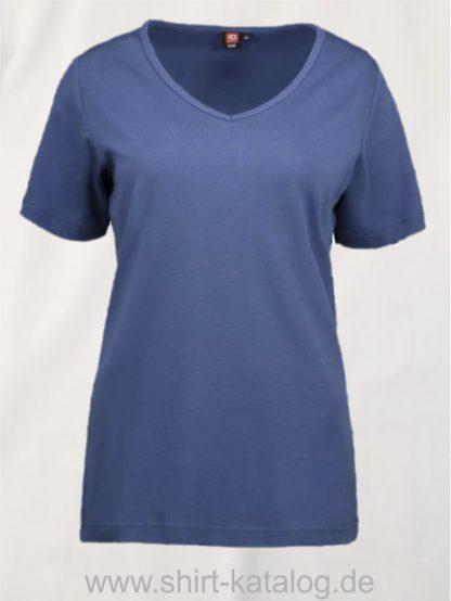 0506-Interlock-Damen-T-Shirt-V-Ausschnitt-indigo-front