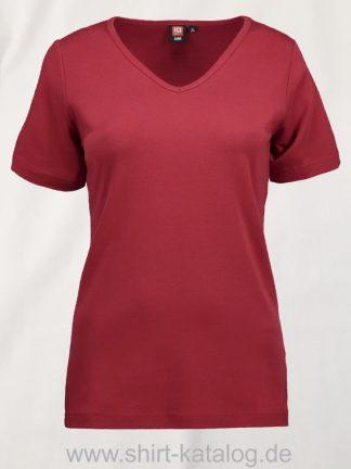 0506-Interlock-Damen-T-Shirt-V-Ausschnitt-rot-front