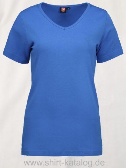 0506-Interlock-Damen-T-Shirt-V-Ausschnitt-türkis-front