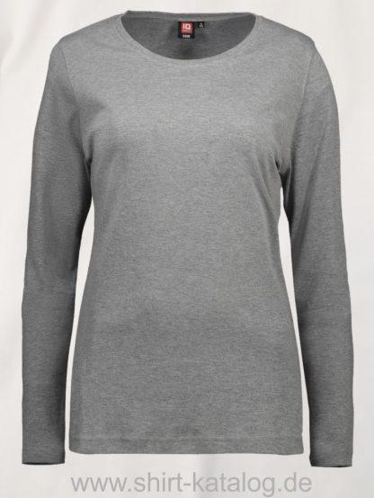 0509-Interlock-Damen-langarm-grau-meliert-front