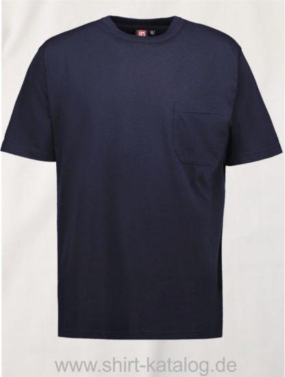 0550-T-TIME-Herren-T-Shirt-Brusttasche-navy-front