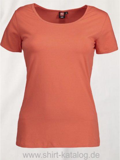 0590-Strech-Damen-T-Shirt-coral-front