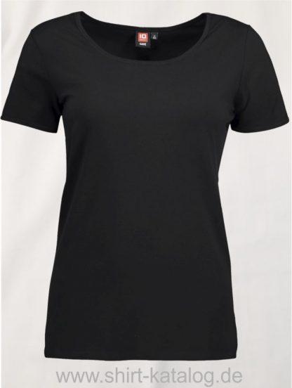 0590-Strech-Damen-T-Shirt-schwarz-front