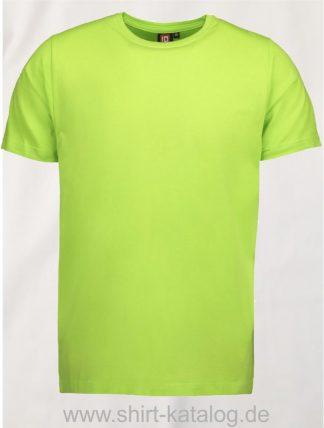 0594-Strech-Herren-T-Shirt-lime-front