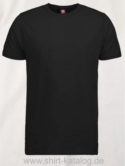 0594-Strech-Herren-T-Shirt-schwarz-front