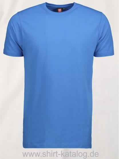 0594-Strech-Herren-T-Shirt-türkis-front