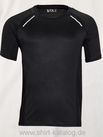 11516-Sols-Men-Short-Sleeve-Running-T-Shirt-Sydney-Black