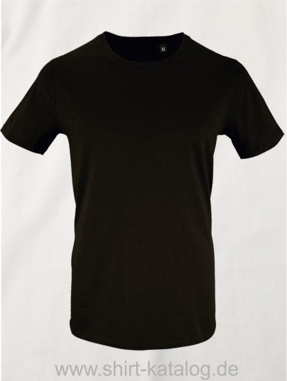 16823-Sols-Mens-Short-Sleeved-T-Shirt-Milo-Deep-Black