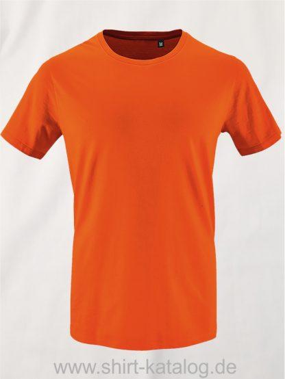 16823-Sols-Mens-Short-Sleeved-T-Shirt-Milo-Orange